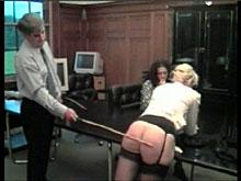 Spanking Videos - The Cane Stripes Miss Sullivan's Bottom