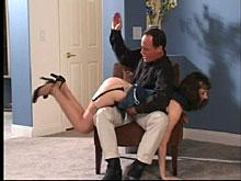 He shows her no mercy with this spanking