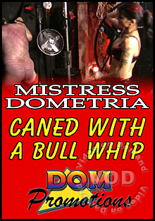 Mistress Dometria - Caned With A Bull Whip Box Cover