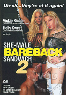 She-Male Bareback Sandwich 2 Box Cover