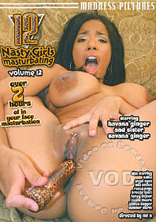 12 Nasty Girls Masturbating Volume 12 Box Cover