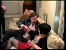 Jim puts her over his knee