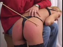 He spanks her - it's an after work spanking