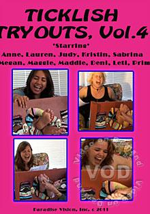 Ticklish Tryouts Vol. 4 Box Cover - Login to see Back